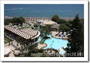 Unser Hotel Calypso Beach, Blick aus dem Zimmer
