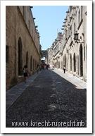 Die Straße der Ritter in Rhodos
