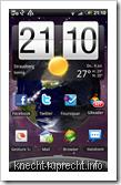 Vodafone HomeZone-Anzeige auf dem HTC Desire