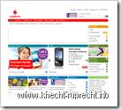 Vodafone Homepage 2. Oktober 2009