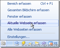 Screenshots mit Maxthon