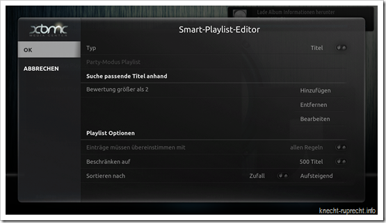 Smart Playlists in XBMC