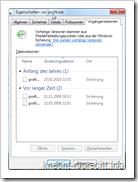 Windows 7/Vista Alte Dateien wieder herstellen
