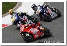 Sachsenring 2009: Stoner, Rossi, Lorenzo