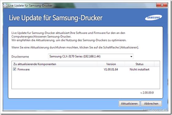 Samsung Firmware für CLX-3175FN