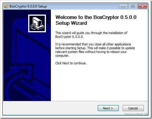 BoxCryptor: Installer