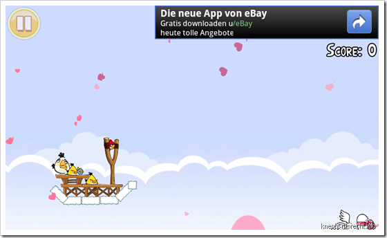 Werbung bei Angry Birds