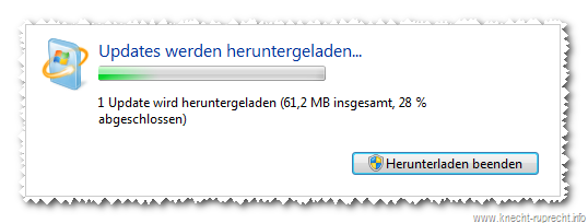 Windows 7 SP1 wird geladen ...