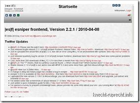 es-f 2.2.1 unter Firefox